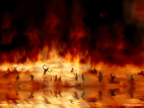Hell, the lake of fire