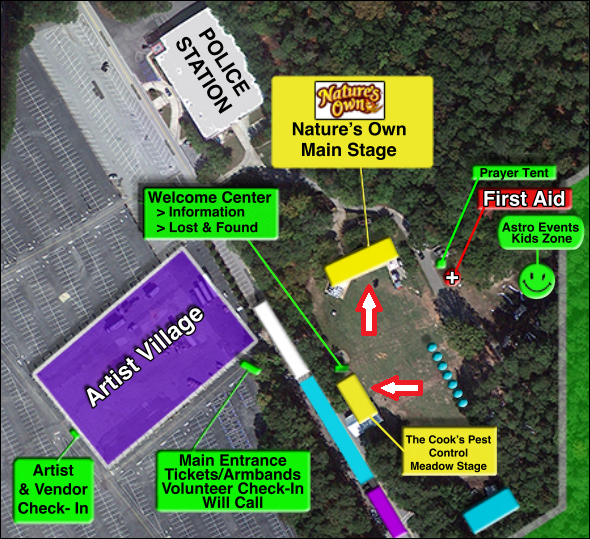 Map of AtlantaFest 2014 grounds