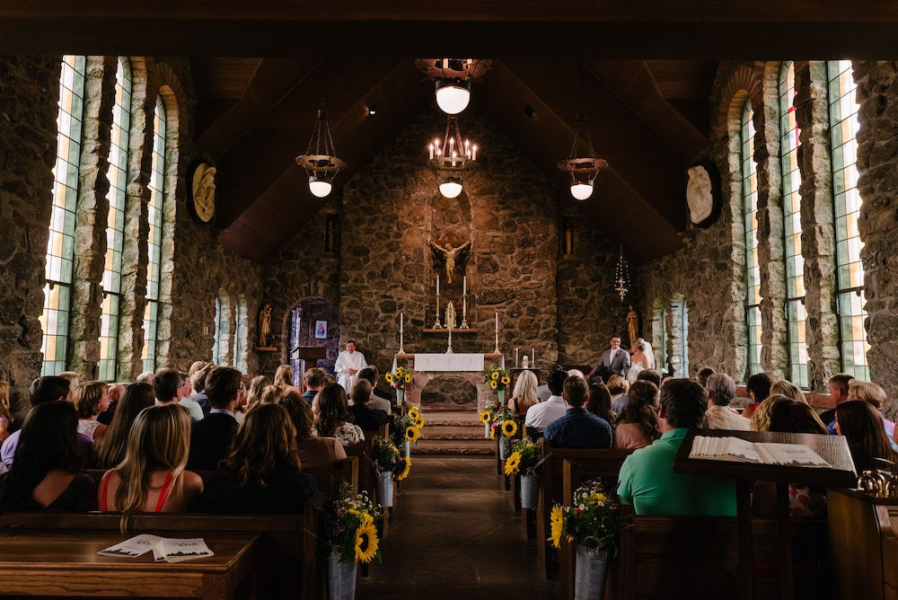 church assembly wedding