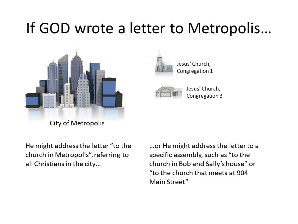 If GOD sent a letter to the church in Metropolis...