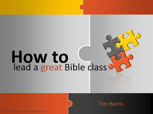 how to lead a great Bible class