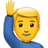 ios 11.2 man raising hand