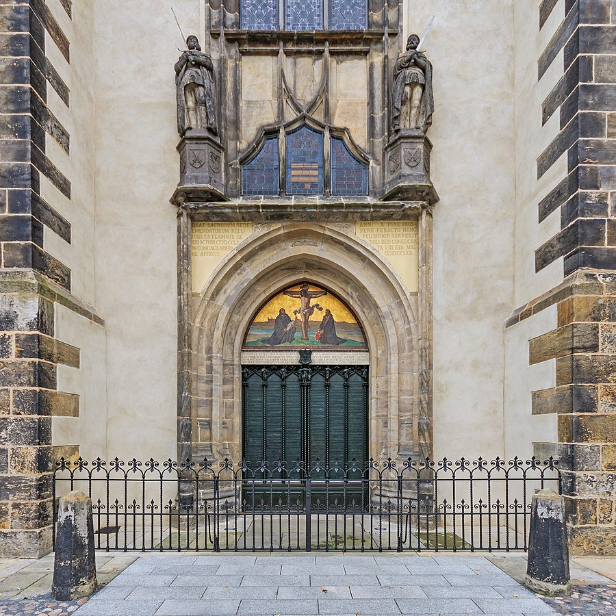 All Saints Church Door in Wittenberg, Germany
