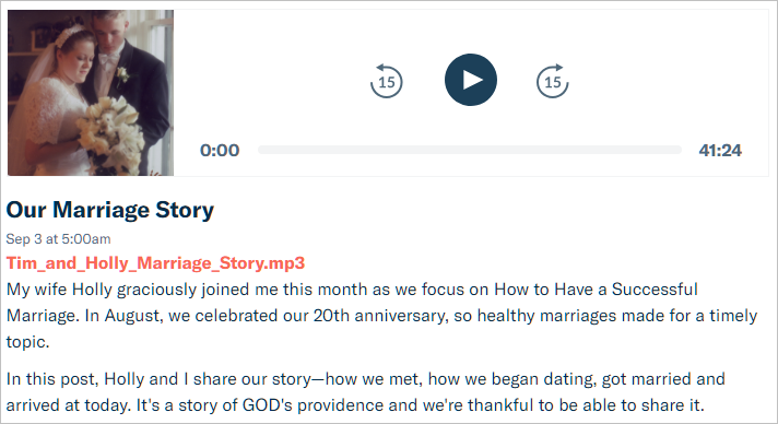 marriage our story post screenshot