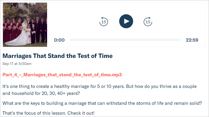 marriage test of time