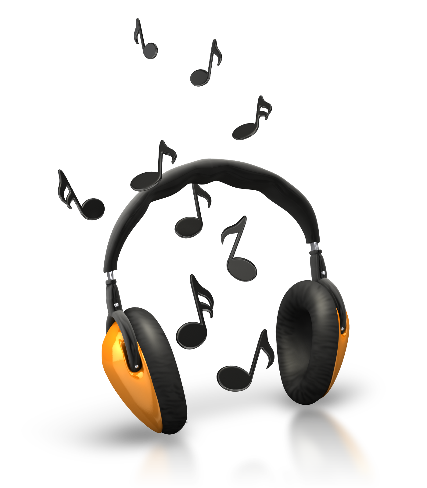 music notes headphones