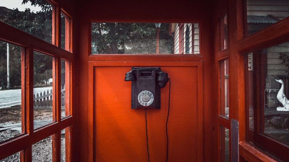 rotary phone booth
