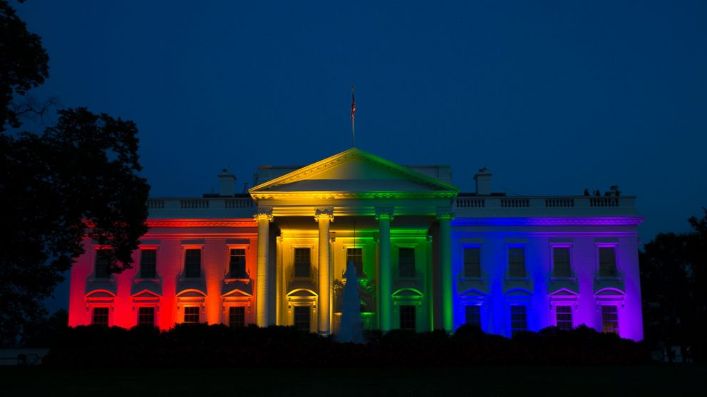 u.s. white house rainbow